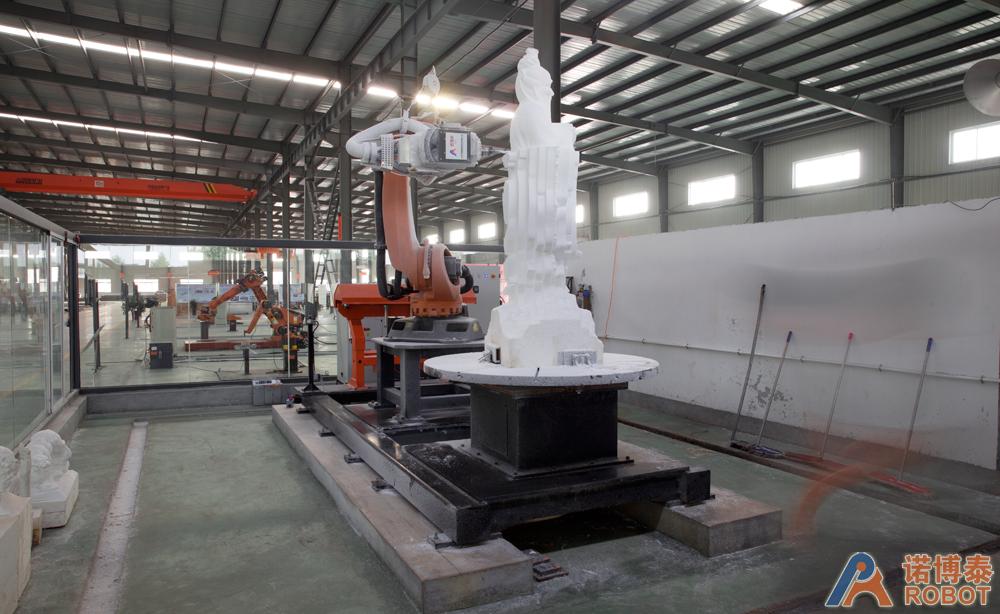 CNC机器人系统雕刻孔子像